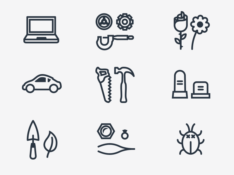 Progress icons