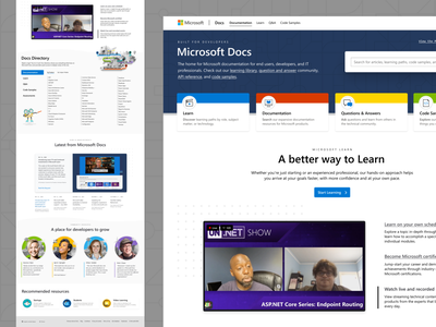 Microsoft Docs - Homepage illustration web microsoft documentation homepage