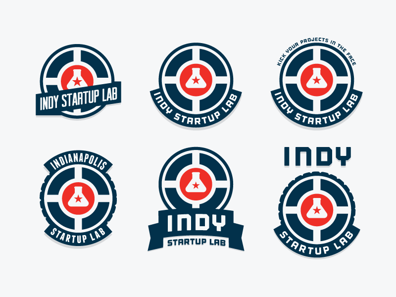 Indy Startup Lab logo badge indy indianapolis startup lab circle city