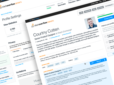 Careers Profile curriculum stack overflow overflow stack controls editor resume cv user profile