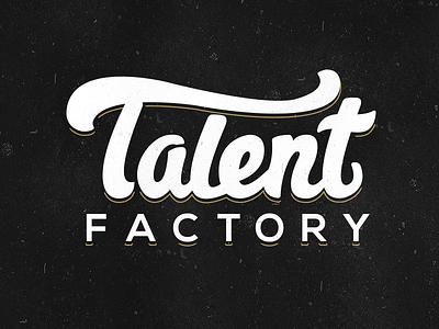 Talent Factory arts drama logo font script talent