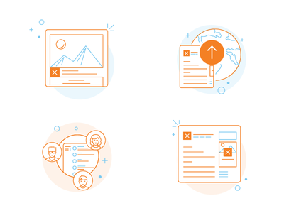 Talent Onboarding Icons publish upload company job listing team manage stack overflow glyph icons