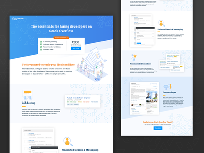 Talent Essentials Lander stack overflow design ui