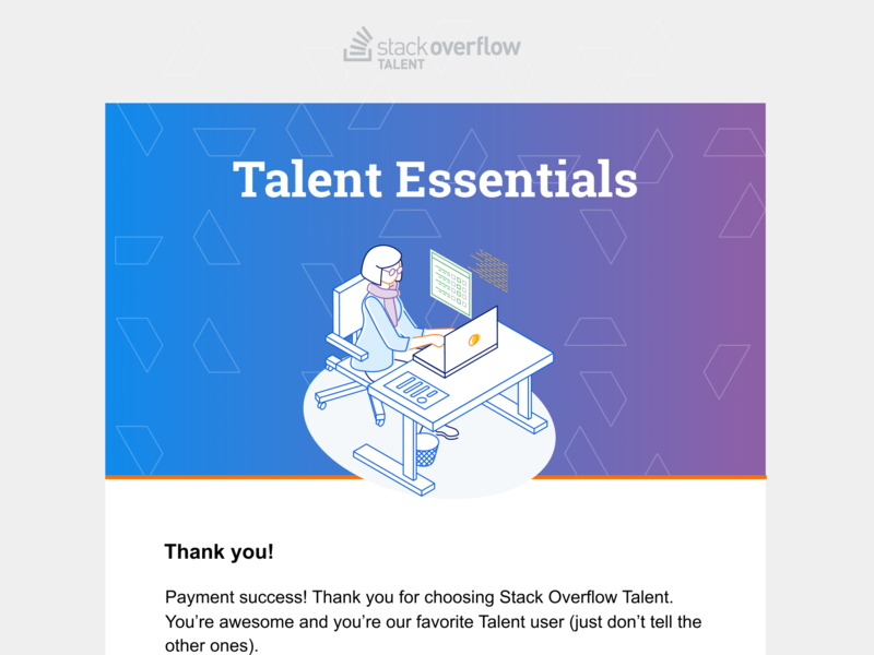 Talent Essentials email branding vector template email illustration stack overflow