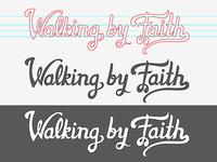 Walking By Faith - Vector