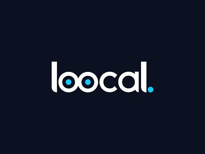Loocal typography icon logo illustration design branding