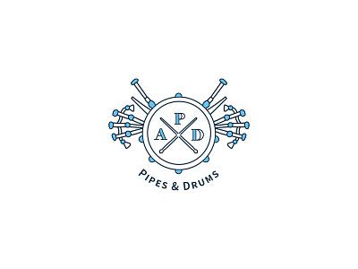 Austin Police Department Band typography logo illustration icon design branding