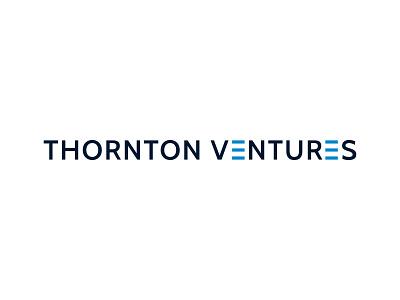 Thorton Ventures typography icon logo illustration design branding