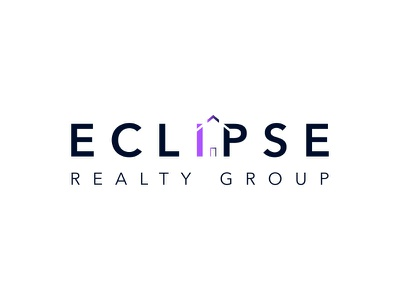 Eclipse Realty Group vector typography logo illustration icon design branding