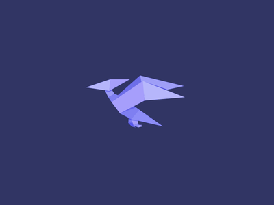 Paper Pterodactyl paper vector avatar pterodactyl dinosaur origami poly low