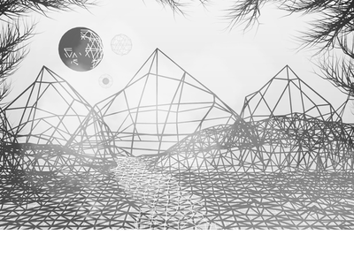 Another Another World terrain mountains blender wire wireframe