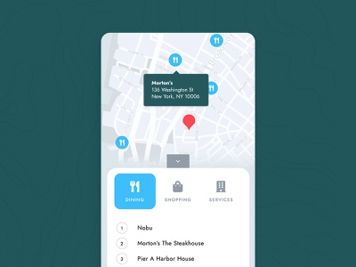 Real Estate Amenity Interactive Map real estate realestate map mobile ui location tooltip new york interactive realtor web amenities tourism commercial real estate