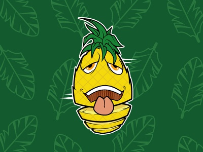 Pineapple Express vector tropical cartoon illustration character fruit hawaii pineapple vape