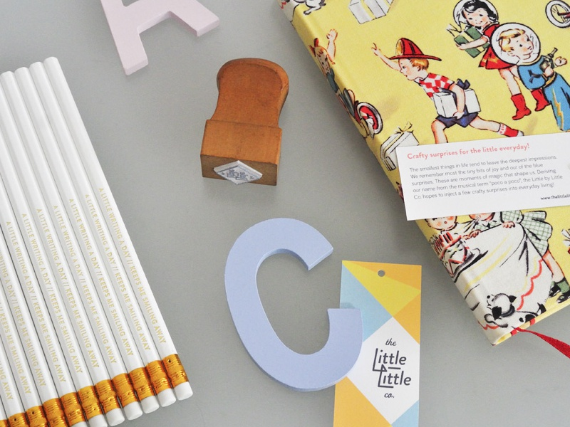 The Little / Little Co. craft pencils logo identity stationery