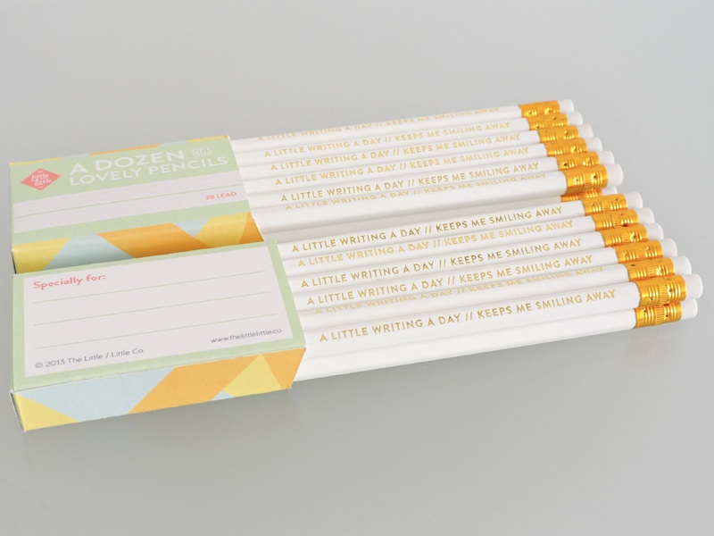 A dozen of our lovely pencils craft pencils logo identity stationery