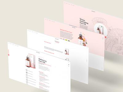 Ikarov Website – Products and Series ux  ui products cosmetics web ux b2b light interface branding ui design landing ui design