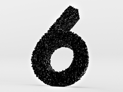 36 Days of Type - 6 design typography letters text lettering type daysoftype 36dot displacement number 3d text blender 3d type design