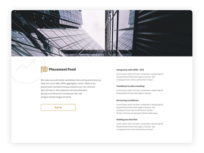 Placement Feed Product page
