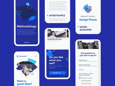 BetaPeak Mobile Version case study design studio vector user interface user experience landing branding interface web homepage web design webdesign mobile version mobile website design ux ui