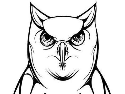 Who illustration owl bird