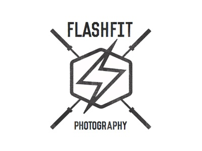 FlashFit Logo logo barbells crossfit photographer brand