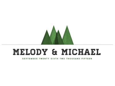 Color wedding brand logo