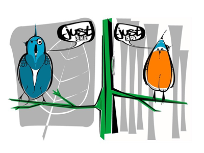 Just Birds sk8 illustration birds