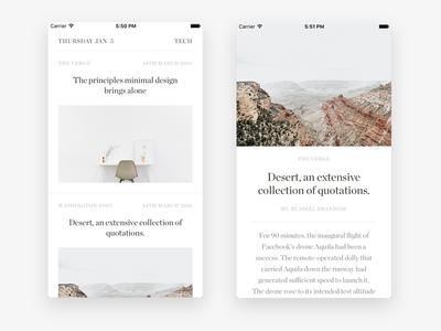 iOS News app WIP