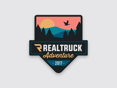 RealTruck Adventure 2017 Expedition Patch travel outdoor expedition adventure roadtrip logo patch badge