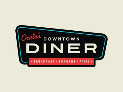 Downtown Diner Logo - Original Pitch