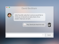 Chat transparent sexy os mac paco ui app chat