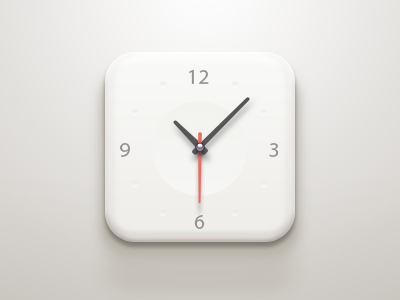 Clock iOS Icon app logo icon application ios iphone clock paco china time watch