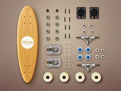 iberica Skateboards icon icons logo skateboard speed deck paco china