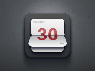 Countdown app logo icon application ios iphone countdown paco china calendar clock flip