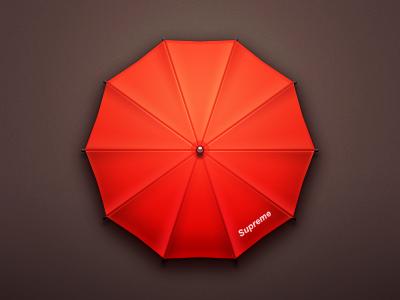 Supreme Umbrella app logo icon application ios iphone supreme paco china umbrella