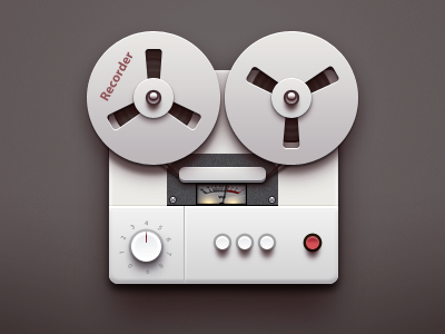 Recorder app logo icon application ios iphone paco recorder china tape