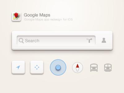 Google Maps icons ios app paco gui search google map ui