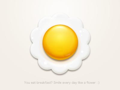 Fried Egg logo icon paco egg breakfast flower yellow