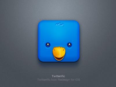 Twitterrific iOS Icon app logo icon application ios iphone paco twitterrific twitter