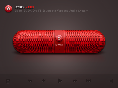 Beats Audio app logo icon application ios iphone paco beats audio sound player ui red