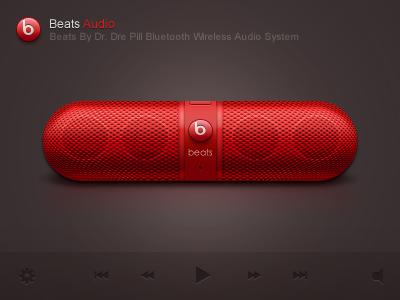 Beats Audio app logo icon application ios iphone paco beats audio sound player ui red
