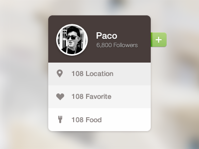 Food Tag location paco icons ui food tag widget design favorite green web