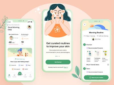 Dewy - Personal skincare buddy case study skincare mobile app branding ui ux
