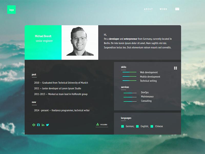 Ivan | minimal resume template free freebie resume css3 html5 template