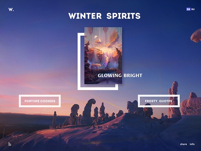 Winter Spirits tales snow winter frost xmas christmas new year