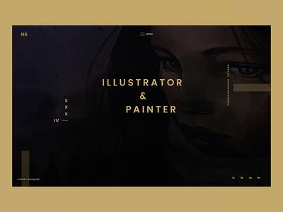 """Fish fell out of water"" interface slider ui art mystic painter card dark-ui darkui minimal frontpage"