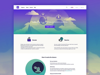 Liberapay for creators green violet donation creativecommons cc landing transfer money payment foss