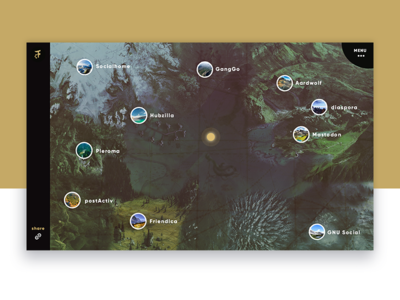 Fediverse Map explore route fantasy gamification card map fediverse