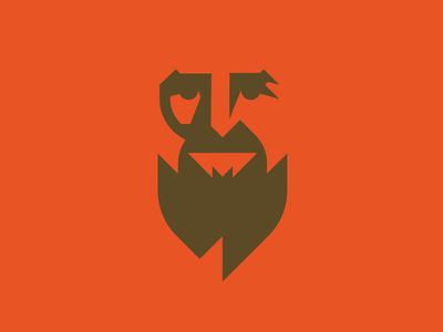 Mann Provision Co. flame negative space beard logo branding geometric man bearded man beard