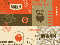 Mann Provision Co. negative space geometric men logotype manly beard oil beard flame bearded man branding